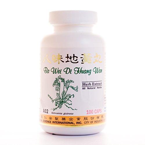 Super 8 Kidney Tonic Dietary Supplement 500mg 100 capsules (Ba Wei Di Huang Wan / Jin Gui Shen Qi Wan) A02 100% Natural Herbs ()