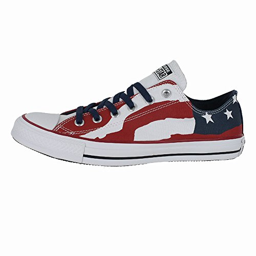 Converse Unisex Chuck Taylor Flag Ox Freedom Bars and Stars Red/White/Blue 148835F (US Men 9.5/Women 11.5)
