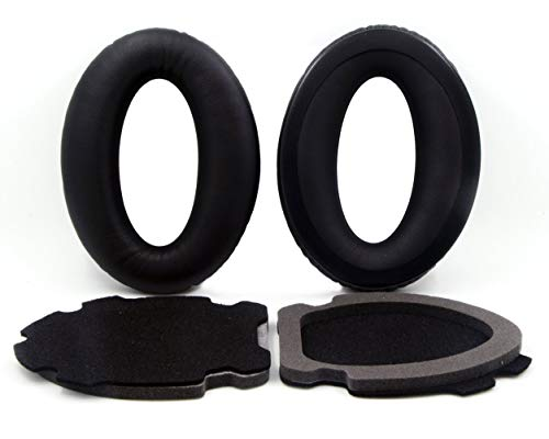 A10 Earpads Headset Ear Cushions Replacement Ear Pads Compatible Bose Aviation Headset X A10 A20 Headphones (Black)