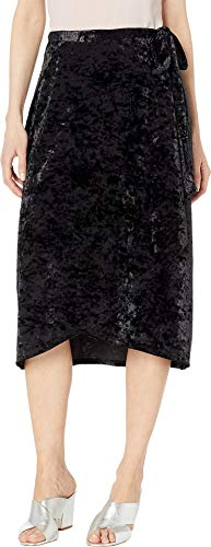 Juicy Couture Women's Crushed Velvet Skirt Pitch Black Small