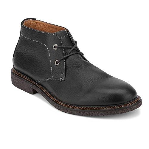 Chukka Mens Classic Boot - Lucky Brand Men's Mason Chukka Boot, Black Leather, 10 Medium US