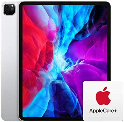 New Apple iPad Pro (12.9-inch, Wi-Fi + Cellular, 1TB) - Silver (4th Generation) with AppleCare+ Bundle