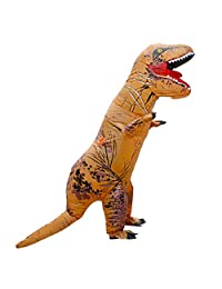 Unisex Children Kids T-Rex Inflatable Dinosaur Costume Blow Up Fancy Funny Dress