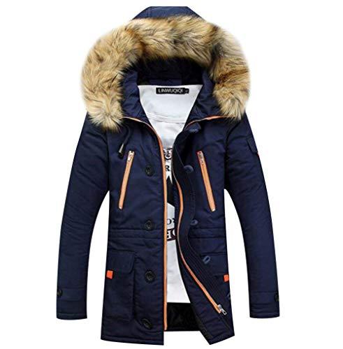 Marineblau Jacket Winter Coat Jacket Parka Winter Jacket Apparel Hooded Men's Warmth Mens Hooded Winter Coat Rompers Parka TwxpWFaq