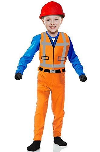 [Mememall Fashion The Builder Toy Construction Worker Child Costume] (Girl Construction Worker Costumes)