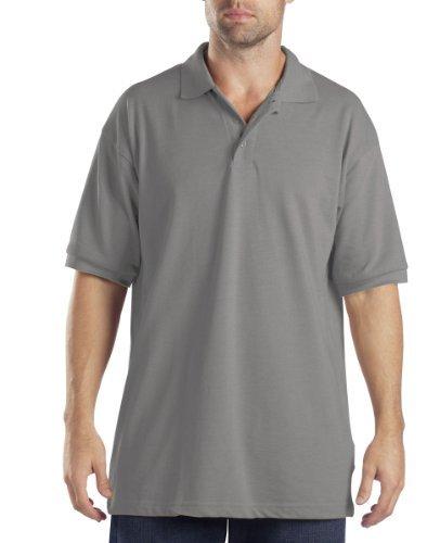 Dickies Short Sleeve Pique Polo Shirt, Heather Gray, XX-Large
