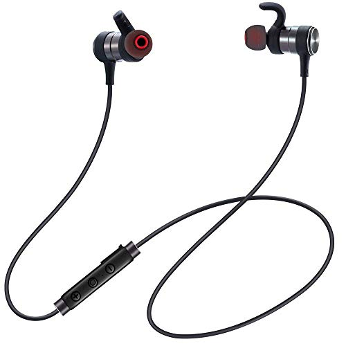 GRMN Bluetooth Headphones,Wireless Sports Earphones with Mic Bluetooth 4.1 Lightweight Stereo in Ear Earbuds IPX5 Sweatproof Magnetic Headsets for Gym
