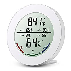 Oria Indoor Hygrometer Thermometer Digital Humidity Monitor Temperature Humidity Gauge Meter With 2 5 Inches Lcd Display ℃ ℉ Switch Min Max Records For Home Car Office Greenhouse Babyroom