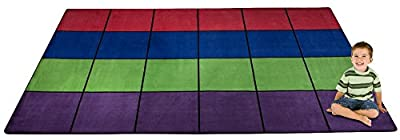 "Kid Carpet Blocks Seating Rug, 7'6"" x 12'"