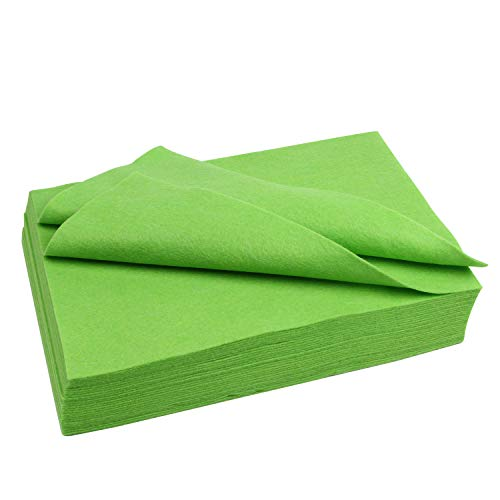 Polyester Felt Sheet Flexible 30 Sheets 20 x 30 cm(7-7/8 X 11-7/8 in 1/8 Inch Thick) (Apple Green) (Green Apple Sheets)