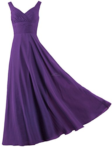 ANTS Formal Straps Pleated Long Straight Bridesmaid Dresses Prom Homecoming Size 18W US Purple