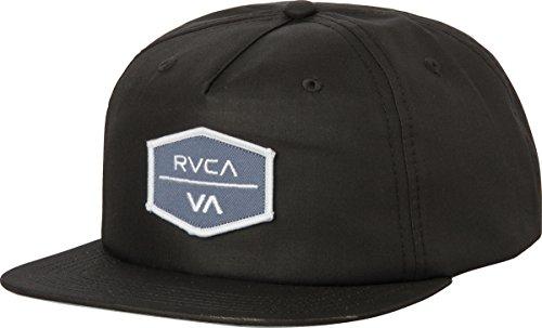 Encore Cap (RVCA Men's Encore Five Panel Hat, Black, One Size)