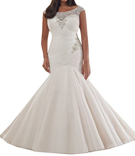 Special Bridal Tulle Bridal Dresses Mermaid Beach Wedding Dress Plus Size Dress Wedding Gown Beading Sweetheart Neck Floor