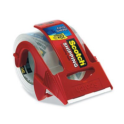 Scotch Packing Tape & Dispenser Heavy Duty 2 In. W X 800 In. L 2 Mm Clear 3M/COMMERCIAL TAPE DIV.