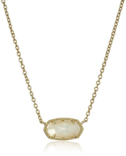 "Kendra Scott ""Signature"" Elisa Gold plated Ivory Mother-Of-Pearl Pendant Necklace"