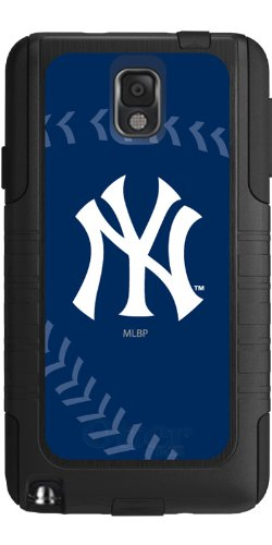 Coveroo Commuter Series Case for Samsung Galaxy Note 3 - Retail Packaging - New York Yankees - Stitch (New York Yankees Note)