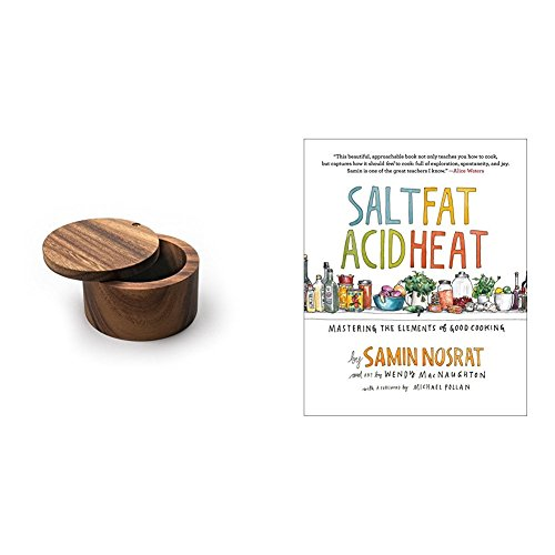 Salt, Fat, Acid, Heat: Mastering the Elements of Good Cooking & Ironwood Gourmet 28221 Salt Cellar, Acacia Wood