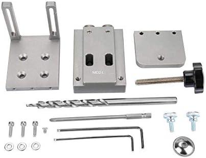 ZANYUYU Pocket Hole Jig,Pocket Hole Jig Kit,Mini Hole Woodjoining Jig Kit,for Wood Working Step Drill Bit Set,Hole Jig Kit 4 * 9 * 170mm
