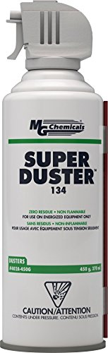 MG Chemicals Super Duster, 450g (16 Oz) Aerosol Can (Electronic Blowoff Valve)