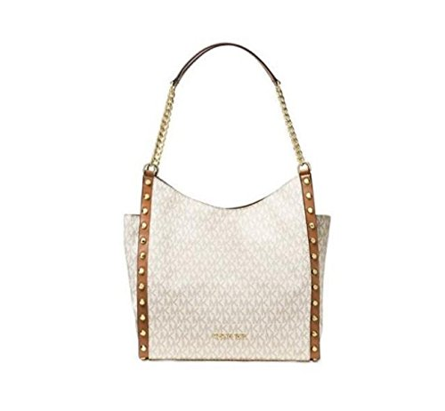 MICHAEL Michael Kors Newbury Medium Chain Shoulder Tote (Vanilla Stud) ()