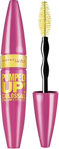 Maybelline Volum' Express Pumped Up! Colossal Washable Mascara, Classic Black [213] 0.33 oz (Pack of 7)
