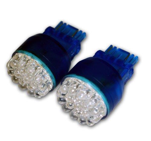 TuningPros LEDBL-3157-B24 Backup Reverse LED Light Bulbs 3157 24 LED Blue 2-pc Set