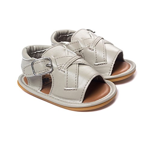 etrack-online bebé de ocio suave soled de goma zapatos de verano sandalias as the picture Talla:0-6 meses as the picture