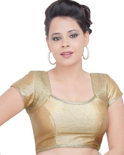 Deluxe Gold Ready-made Indian Saree Sari Blouse Choli - R-5P - Choli Sari