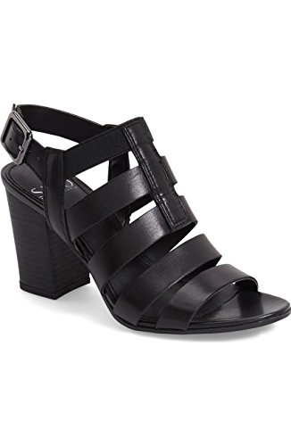 Franco Dress Leather Black Montage Franco Sarto Womens Sarto Sandal Black qPZw5XS8nS