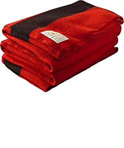 Hudson's Bay Company 72 by 90-Inch Full Size 4 Point Blanket, Scarlet Red