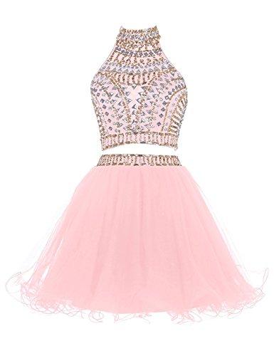 Pezzi Partito Ritorno Di Di Promenade Colore Cristallo 2 A Casa Vestito Breve Rosa Vestito Chupeng A Halter Due Da Di 0EqnO