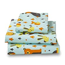 Twin Woodland Print Bed Sheet Set for Kids Bedding