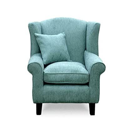 Excellent Lounge Wing Chair Home Furniture Wing Back Chairs Duck Egg Blue Home Life Direct Spiritservingveterans Wood Chair Design Ideas Spiritservingveteransorg