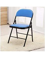 HOUMEL C2023 Klapstoelen met zachte bekleding, sterk stalen frame, bureaustoel, lichte stoelen voor slaapkamer, comfortabele gevoerde zitting, opvouwbaar, gemakkelijk op te bergen, verkrijgbaar in 4 kleuren