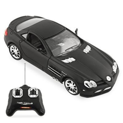 Mercedes Rc Car (Mercedes Benz SLR McLaren R/C Radio Remote Control Car 1:24 Scale (Black))