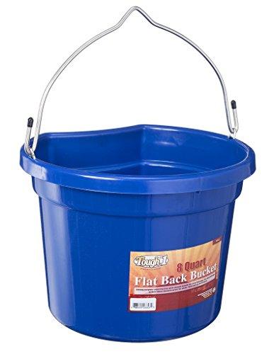 8 Quart Bucket (Tough 1 Flat Back Bucket, Royal Blue, 8-Quart)