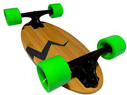 (Eggboards Mini Longboard Cruiser Skateboards - Mini Skateboard with Wide Cruiser Skateboard Deck 19 inch in Bamboo Wood and Big Longboards Wheels)