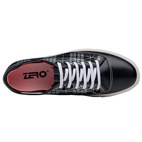 Sneaker Da Uomo Casual In Pelle Foderata Nera F6105 Da Uomo Di Zro