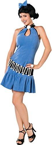 [Rubie's Costume Co Women's The Flintstone's Fuller Cut Betty Rubble Costume, Blue, Medium] (Flintstones Costumes For Family)
