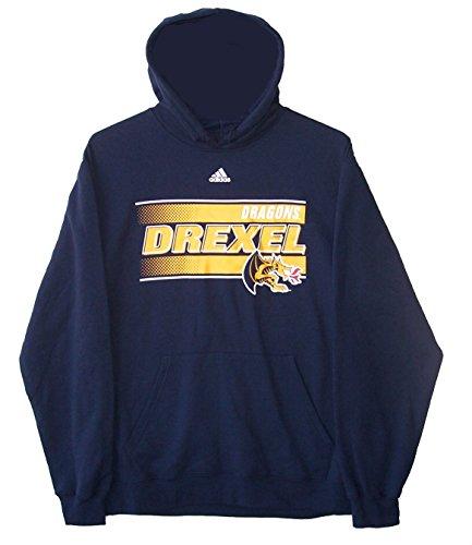 Adidas Drexel Dragons Basketball Adult Size Large Hoodie Hooded Sweatshirt / Jacket - Navy Blue
