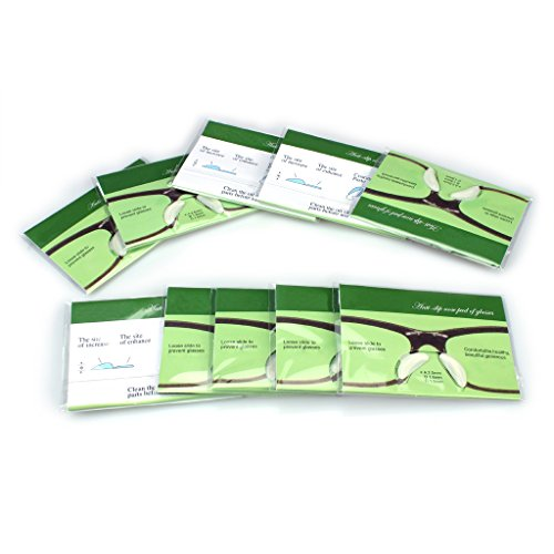 Ewinever(R) 2.5mm 10 Pairs Non-Slip Silicone Nose Pads for Eyeglasses, Sunglasses, Soft Adhesive Stick on Nose Pads Glasses Spectacles(Transparent)