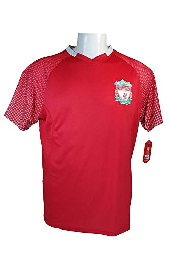 Liverpool F.C. Soccer Official Adult Soccer Training Performance Poly Jersey -J007 -