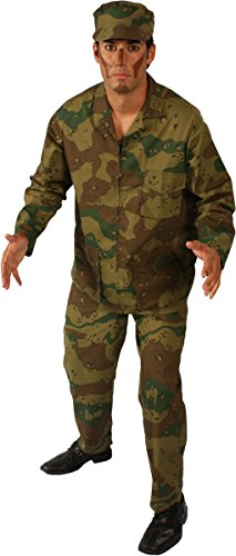 Alexanders Costumes Men's Army Man, Green, -