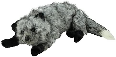 Silver Fox Stuffed Animal, Amazon Com The Hen House 32 Life Like Extra Soft And Cuddly Plush Silver Fox Stuffed Animal Hug Home Kitchen