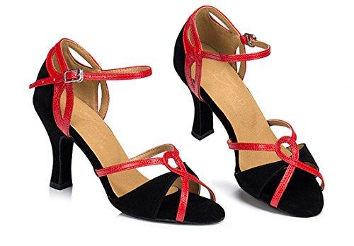 TDA - Zapatos con tacón mujer 7.5cm Heel Black Red