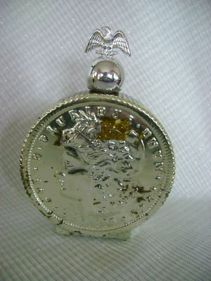 VINTAGE 1970'S AVON 1895 DECANTER LIBERTY SILVER DOLLAR