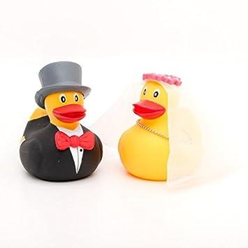 LiLaLu Badeenten Set Brautpaar Hochzeitspaar Mini