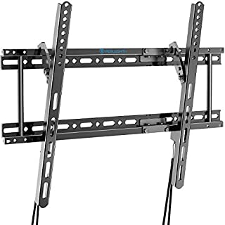 """PERLESMITH PSLTK2 Wall Bracket Fits for 16"""",18"""",24"""" Studs, Low Profile Tilt Mount for Most 37-82 Inch LED, LCD, OLED, 4K Flat Screen TVs with VESA up to 600x400mm 132lbs, Black"""