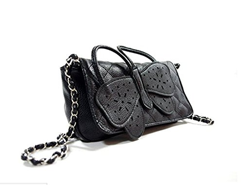 Foopp moda donna farfalla bow-knot catena borsetta borsa a tracolla