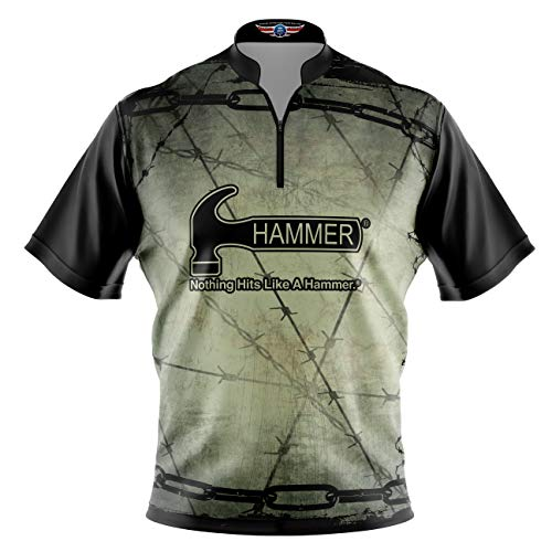 Logo Infusion Bowling Dye-Sublimated Jersey (Sash Collar) - Hammer Style 0355 - Sizes S-3XL